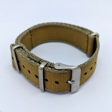 22mm Premium Military NATO Watch Strap - Khaki/Grey