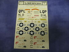 Vintage P-51 Mustang Aces The Micro Scale Decal 48-1 1:48 Aircraft