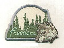 Forest Camping Nature Wolf Embroidery Applique Patch