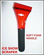 Ice Snow Winter Scrapper Cleaner Soft Foam Handle Home Car Van Windscreen RED