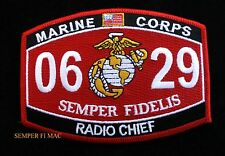 MOS 0629 RADIO CHIEF PATCH HF VHF COMM US MARINES PIN UP MOS 2537 USS FMF GIFT