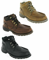 New Mens CAT Caterpillar Corbett Leather Ankle Casual Walking Boots Size 6-12 UK