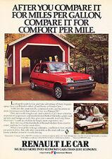 1980 Renault Le Car - Barn - Classic Vintage Advertisement Ad D29