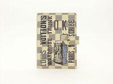 Louis Vuitton Auth Damier AZUR Wardrobe Trunk Agenda fonctionnel PM Diary cover