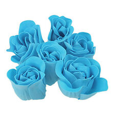 Turquoise Blue Rose Design Bathing Scented Soap Petal 6PCS SH