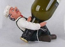 Cool Sitting Chef Balancing BOTTLE HOLDER..With FREE GIFT Great Bar Mancave Gift