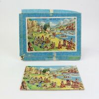 Vintage Victory Wooden Jigsaw Puzzle. Series No: IND 1. Complete - INDIAN CAMP.