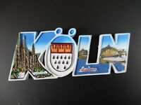 Köln Cologne Germany Premium Souvenir Magnet,Polyresin Großbuchstaben,NEU