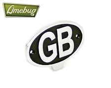 VW Vintage Bumper Emblem Badge GB Great Britain Beetle Bus Panel Van Aluminium