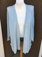 New $109 Chico's Travelers Blizzard Blue Sparkle Cardigan Sweater 3 XL 16 18 NWT