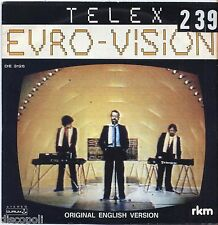 "TELEX - Euro vision - VINYL 7"" 45 LP ITALY 1980 VG+ COVER  VG- CONDITION"