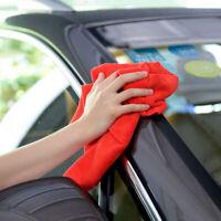 10x Red Car Microfiber Cleaning Detailing Soft Polish Cloths Towel Lint 30*30cm