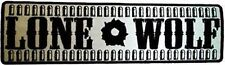 REFLECTIVE Large Lone Wolf BACK PATCH For Motorcycle MC Club NEW Vest LRG-0072