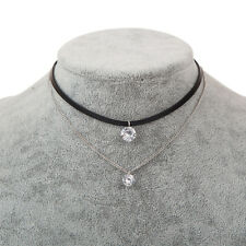 Charm Leather Trendy Choker Crystal Necklaces Pendants Women Girl Gothic Collier
