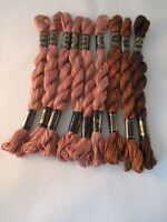 Vintage DMC 3 Cotton Perle Embroidery Thread New 15 M 9 Skeins Assorted Browns