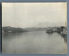 Suisse, Lucerne Vintage silver print. Luzern  Tirage argentique d'époque