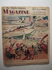 Louisville Courier Journal Magazine. 1963- JFK Feature! White Thoroughbreds!