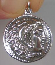 Pendant -Macedonia Star -Vergina King Alexander The Great Hercules Large Silver