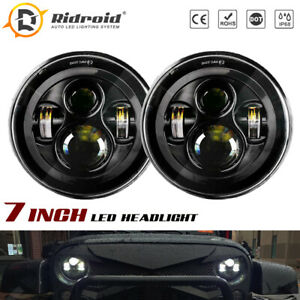 """7"""" Round Sealed LED Headlights For Hummer AM General 1992-2001 H1 02-06 H2 03-09"""