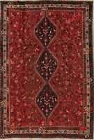 ANTIQUE One-of-a-Kind Geometric Oriental Hand-Knotted 7x10 Tribal Red Rug