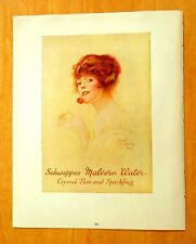 Print Ad Lady SCHWEPPES MALVERN WATER & PEARS SOAP Savoy Hotel Co. London c.1915