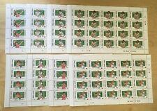 FULL SHEETS Sierra Leone 1987 899-906 - Wimbledon Tennis - Set of Sheets - MNH