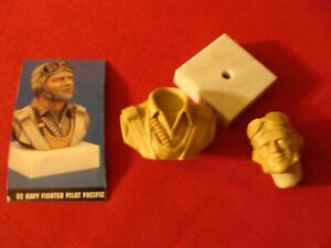 Verlinden 1:4 Resin Bust U.S.Navy Pilot Pacific with Marble Base