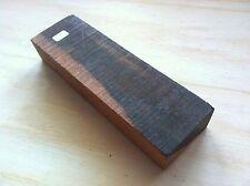 Black Ebony Wood Knife Blank 190x57x30mm Gouge Handle Blacksmith Diy 615
