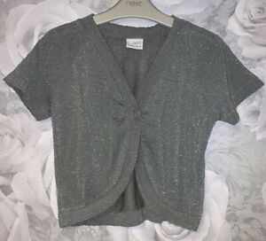 Girls Age 11-12 Years - Next Silver Sparkly Cardigan