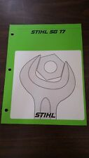 Stihl SG17 Mist Blower Service Repair Manual