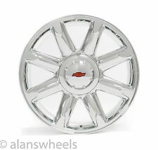 "4 NEW Chevy Suburban Tahoe Chrome Red Bowtie 20"" Wheels Rims Free Shipping 5304"