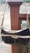 Fossil Relic RL8749187 Astor Place Hobo Bag Black/ Kakhi W/ Phone Compartment