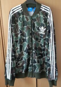 ADIDAS CAMOUFLAGE 3 STRIPES TRACKSUIT TOP WITH POCKETS X/LARGE