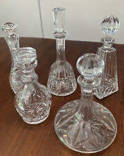 Group Lot of Five (5) Crystal Decanters Waterford - Low Reserve