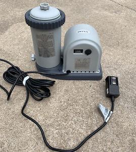 Intex Krystal Clear Pool Pump 635T. Working