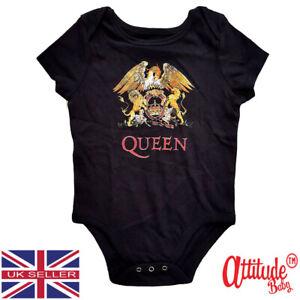 Queen Kids Baby Grows-Classic-Official Queen-Rock Band Baby Grow-Heavy Rock Baby