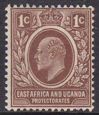 EAST AFRICA & UGANDA 1907-08 SG34 1c BROWN MNH