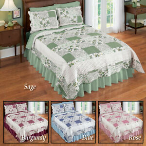 Lovely Patchwork Hadley Floral Reversible Full/ Queen Size Bedroom Quilt