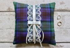 Custom Scottish Tartan Ring Pillow/ Ring Cushion (500 tartans). Wedding Bearer.