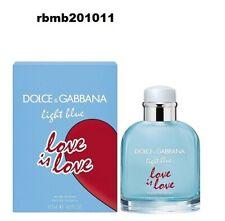 Dolce & Gabbana Light Blue LOVE IS LOVE EDT Pour HOMME 4.2 Oz For Men NEW Sealed