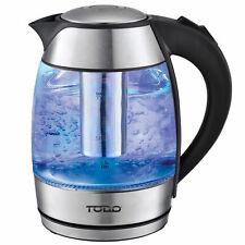 TODO 1.8L Glass Cordless Kettle Electric Blue Led Light Infuser Filter 360 Jug