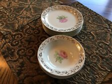 Taylor Smith Taylor Gold Floral Filigree Center Rose Set Of Small Plates & Bowls