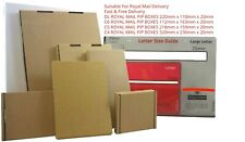 Small and Cheap Brown Box -Royal Mail post-Size C4/A4, C5A5, C6/A6, DL- Free del