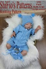 KNITTING PATTERN for BABY CABLE ALL IN ONE, HAT & BOOTIES #312 NOT CLOTHES