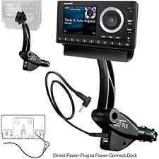 ChargerCity Dual USB Sirius XM Satellite Radio Lighter Socket Car Mount w/Tilt .