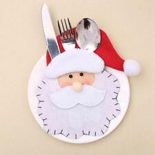 Christmas Xmas Decor Santa Kitchen Tableware Holder Pocket Dinner Cutlery Bag