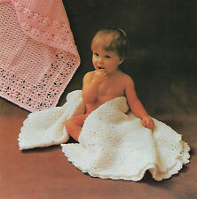 BABY GIRLS  BOYS SQUARE & CIRCULAR SHAWLS CROCHET PATTERN (1456)
