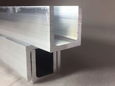 Aluminum U CHANNEL Various Sizes 2 m Long NEXT DAY DELIVERY