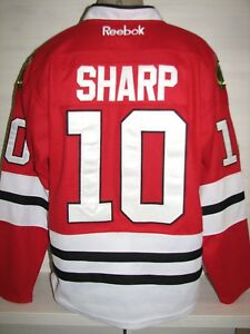 #10 PATRICK SHARP CHICAGO BLACKHAWKS NHL CCM REEBOK ICE HOCKEY JERSEY SIZE 48
