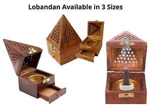 Pyramid Wooden Incense Burner Lobandan - Comes in 3 Sizes